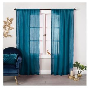 SET OF TWO! Opalhouse Crushed Sheer Curtain Panel